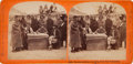 Photography:Stereo Cards, Albumen Stereoview: Pawnee Indians Receiving Government Annuity ...