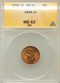 Indian Cents: , 1898 1C MS62 Red and Brown ANACS. NGC Census: (5/393). PCGSPopulation (13/441). Mintage: 49,823,080. Numismedia Wsl. Price...