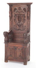 Furniture , A FRENCH RENAISSANCE-STYLE WALNUT CHAIR. 19th century. 69-1/2 x 28 x 20-1/2 inches (176.5 x 71.1 x 52.1 cm). The Elton M. ...