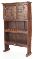Furniture , A PROVINCIAL OAK CABINET. Circa 17th/18th century. 65-1/2 x 38-1/4 x 11-1/4 inches (166.4 x 97.2 x 28.6 cm). The Elton M. ...