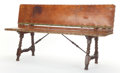 Furniture , A SPANISH WALNUT FOLDING BENCH. 17th century. 28-3/4 inches x 67-1/2 inches x 18-1/2 inches (73.0 x 171.5 x 47.0 cm). The ...