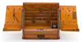 Decorative Arts, British:Other , AN EDWARDIAN OAK WRITING BOX . Circa 1900. 10-3/4 x 12-1/4 x 6-1/2inches (27.3 x 31.1 x 16.5 cm). ... (Total: 2 Items)