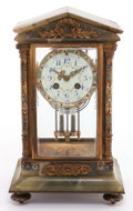 Decorative Arts, French:Other , A FRENCH CLOISONNÉ AND ONYX MANTLE CLOCK . Circa 1900. Marks:(maker's mark), MADE IN FRANCE 7119 411. 13-3/8 x 8 x5-1/...