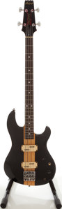 Musical Instruments:Bass Guitars, Aria Pro II TSB-400 Thor Sound Black Electric Bass Guitar, Serial # 2080842....