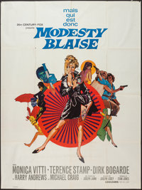 "Modesty Blaise (20th Century Fox, 1966). French Grande (47"" X 63""). Thriller"