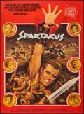 "Movie Posters:Action, Spartacus (Universal International, R-1967). French Grande (46"" X62""). Action.. ..."