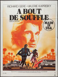 "Movie Posters:Action, Breathless (Orion, 1983). French Grande (47"" X 63""). Action.. ..."