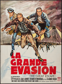 "The Great Escape (United Artists, 1963). French Grande (46"" X 62""). War"