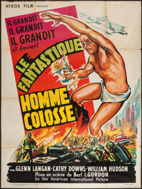"The Amazing Colossal Man (Athos, 1957). French Grande (47"" X 62""). Science Fiction"