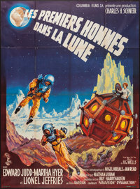 """First Men in the Moon (Columbia, 1965). French Grande (45"""" X 62""""). Science Fiction"""