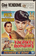 "Movie Posters:Romance, Roman Holiday (Paramount, 1953). Belgian (14"" X 22""). Romance.. ..."