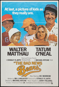 "The Bad News Bears (Paramount, 1976). British One Sheet (27"" X 40""). Sports"