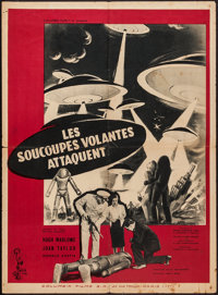 """Earth vs. the Flying Saucers (Columbia, 1956). French Affiche (23"""" X 31.5""""). Science Fiction"""