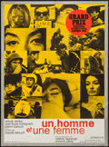 "Movie Posters:Romance, A Man and a Woman (United Artists, 1966). French Affiche (22.5"" X 30.5""). Romance.. ..."