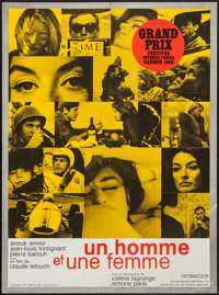 """A Man and a Woman (United Artists, 1966). French Affiche (22.5"""" X 30.5""""). Romance"""