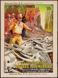 """Tim Tyler's Luck (Universal, 1937). French Affiche (23.5"""" X 31.5"""") Chapter 4 -- """"The Ivory Trail."""" S..."""
