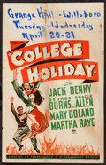 """Movie Posters:Comedy, College Holiday (Paramount, 1936). Window Card (14"""" X 22"""").Comedy.. ..."""