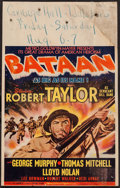 "Movie Posters:War, Bataan (MGM, 1943). Window Card (14"" X 22""). War.. ..."