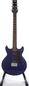 Musical Instruments:Electric Guitars, 2003 Ibanez Gio GAX Electric Blue Solid Body Electric Guitar,Serial # A0300362....