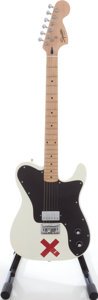 Musical Instruments:Electric Guitars, 2007 Fender Squire Deryck Whibley Telecaster Olympic White Solid Body Electric Guitar, Serial # IC070238557....