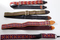 Musical Instruments:Miscellaneous, 1960s-1970s Vintage Guitar Strap Lot of 4.. ...
