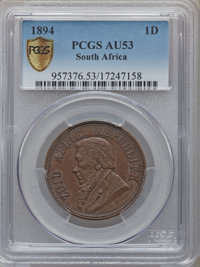 South Africa: Republic Penny 1894
