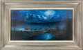 Western Expansion:Cowboy, Contemporary Western Painting: The Midnight Stage. ...