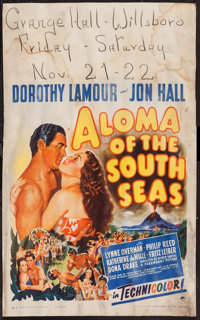 "Aloma of the South Seas (Paramount, 1941). Window Card (14"" X 22""). Adventure"