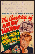 "Movie Posters:Romance, The Courtship of Andy Hardy (MGM, 1942). Window Card (14"" X 22"").Romance.. ..."
