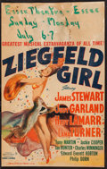 "Movie Posters:Musical, Ziegfeld Girl (MGM, 1941). Window Card (14"" X 22""). Musical.. ..."