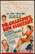 """Movie Posters:Drama, Dr. Gillespie's New Assistant (MGM, 1942). Window Card (14"""" X 22"""").Drama.. ..."""