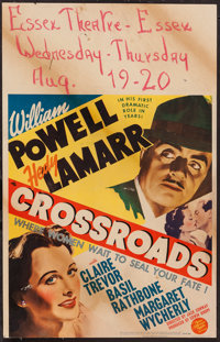 "Crossroads (MGM, 1942). Window Card (14"" X 22""). Mystery"