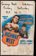 """Movie Posters:Crime, Highway West (Warner Brothers, 1941). Window Card (14"""" X 22""""). Crime.. ..."""