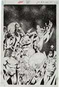 Original Comic Art:Covers, Steve Scott and Mark Propst JLA 80-Page Giant #3 CoverOriginal Art (DC, 2000)....