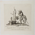 """Books:Prints & Leaves, William Hogarth. Printed Engraving Entitled """"Esse quid hocdicam?..."""". Hogarth, May 7, 1761. Image size approximately 6 x 6..."""