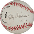 Movie/TV Memorabilia:Autographs and Signed Items, A Roddy McDowall Signed Baseball, Circa 1990s....