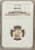 Mercury Dimes: , 1919 10C MS63 Full Bands NGC. NGC Census: (48/181). PCGS Population(118/407). Mintage: 35,740,000. Numismedia Wsl. Price f...