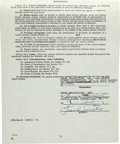 "Movie/TV Memorabilia:Autographs and Signed Items, A Frank Sinatra Signed Contract for ""Pal Joey.""..."