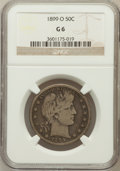 Barber Half Dollars: , 1899-O 50C Good 6 NGC. NGC Census: (6/99). PCGS Population (7/218).Mintage: 1,724,000. Numismedia Wsl. Price for problem f...