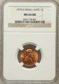 Lincoln Cents: , 1970-S 1C Small Date MS64 Red and Brown NGC. NGC Census: (12/8).PCGS Population (8/5). Mintage: 693,192,832. Numismedia Ws...
