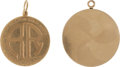 Movie/TV Memorabilia:Awards, A Rosalind Russell Set of Gold Medallions, 1940, 1956.... (Total: 2Items)