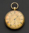 Timepieces:Pocket (pre 1900) , J.W. Benson London 18k Gold Lever Fusee Pocket Watch. ...
