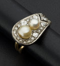 Estate Jewelry:Rings, Vintage Diamond & Pearl Gold & Platinum Ring. ...
