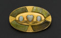 Estate Jewelry:Brooches - Pins, Scottish Opal & Gold Hardstone Brooch. ...