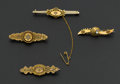 Estate Jewelry:Brooches - Pins, Four Victorian Gold Brooches. ... (Total: 4 Items)
