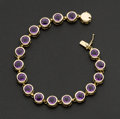 Estate Jewelry:Bracelets, Amethyst & Gold Bracelet. ...