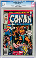 Bronze Age (1970-1979):Miscellaneous, Conan the Barbarian #67 (Marvel, 1976) CGC NM 9.4 Off-white towhite pages....