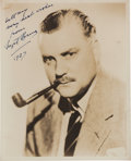 Movie/TV Memorabilia:Autographs and Signed Items, A Nigel Bruce Signed Sepia Photograph, 1937....