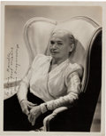 Movie/TV Memorabilia:Autographs and Signed Items, A Maria Ouspenskaya Signed Black and White Photograph, Circa1940s....