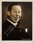 Movie/TV Memorabilia:Autographs and Signed Items, A Bert Lahr Signed Black and White Photograph, Circa 1939....